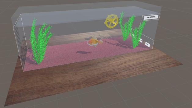 Goldfish Simulator AR poster
