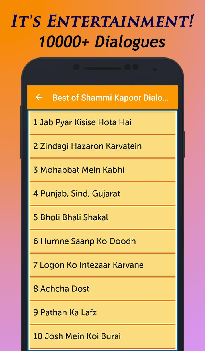 Best of Shammi Kapoor Dialogues for Android - APK Download