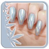 Silver Nail Polish icon