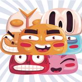 Cartoon Faces Match Game icon