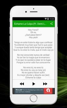 Luis Fonsi - Échame La Culpa (Ft. Demi Lovato) apk screenshot
