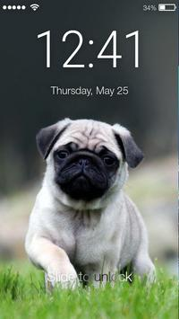 Pug Favorite Little Puppy Lock Screen poster