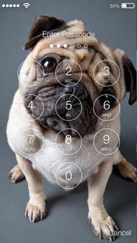 Pug Favorite Little Puppy Lock Screen screenshot 1