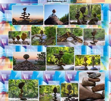 Rock Balancing Art poster