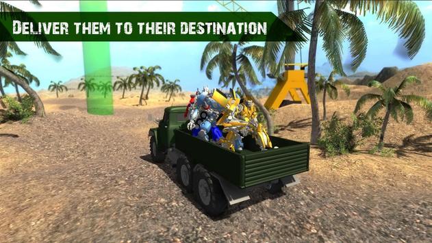 Robot Transporter Truck 3D apk screenshot