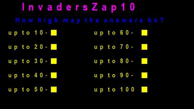 InvadersZap10 screenshot 1