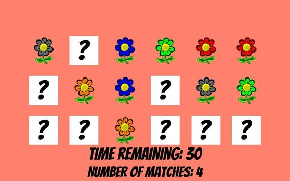 Memorize flowers in 60 seconds poster