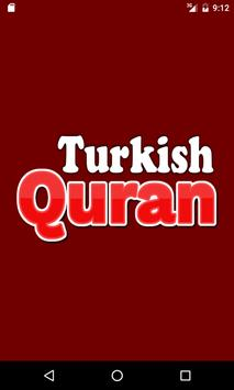 Turkish Quran poster