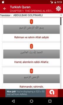 Turkish Quran apk screenshot