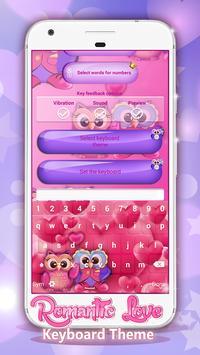 Romantic Love Keyboard Theme apk screenshot