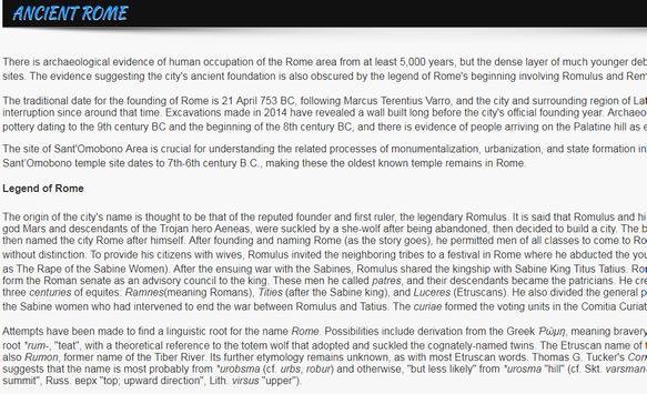 History of Rome apk screenshot