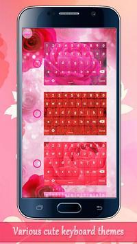Rose Keyboard Themes apk screenshot