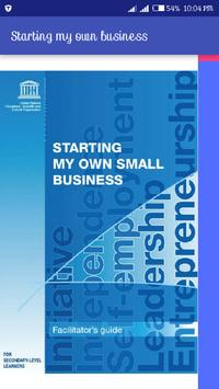 Start your own business poster