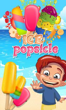 Ice Popsicle game: kids games poster