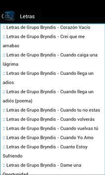 Letras de Grupo Bryndis screenshot 2