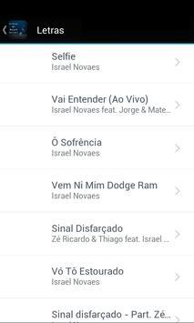 Letras de Israel Novaes screenshot 1