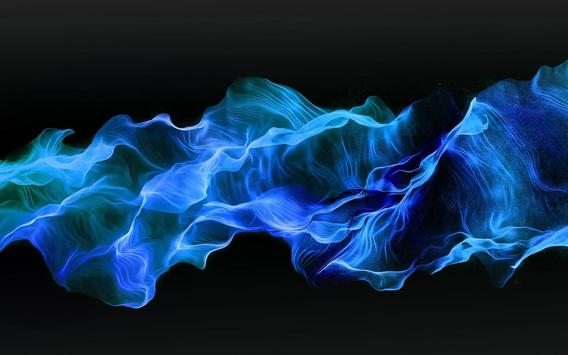 Blue Fire Live Wallpaper apk screenshot