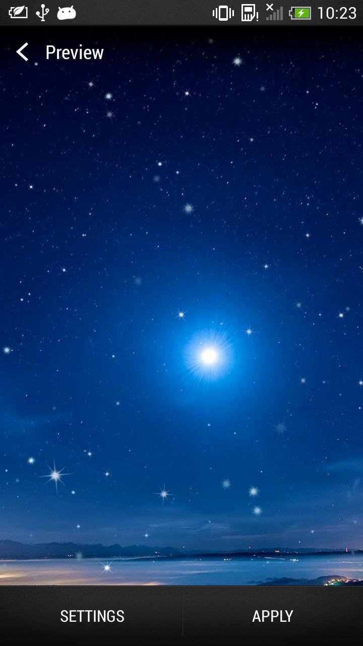 Android 用の 星空の夜ライブ壁紙 Apk をダウンロード