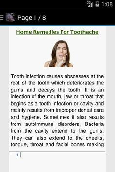 Reduce Toothache Home Remedy apk screenshot