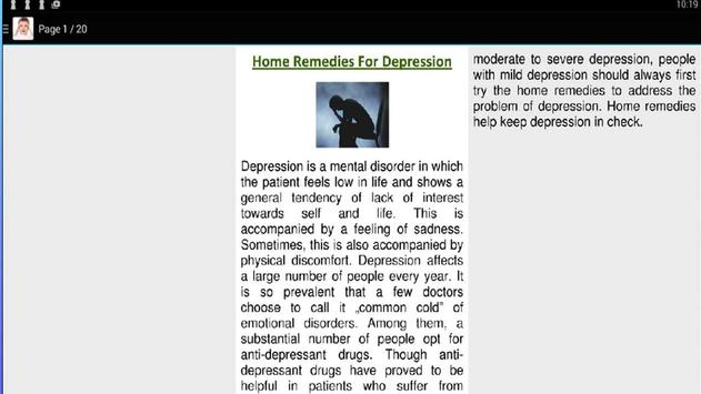 Home Remedies For Depression screenshot 2