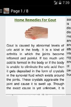 How to Get Rid of Gout apk screenshot