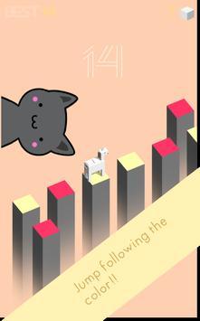 Unicorn Kawaii Jump poster