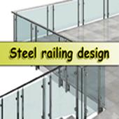 Steel railing design icon