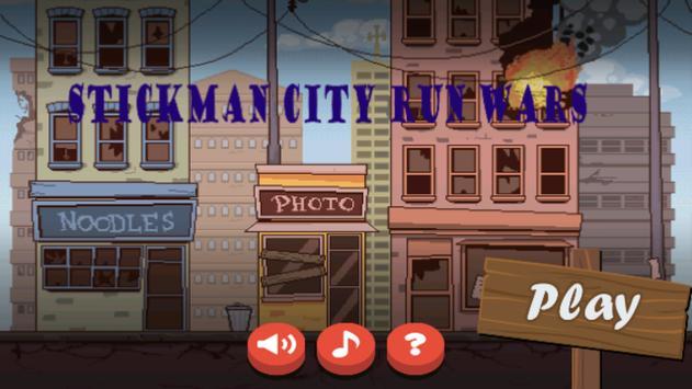 Stickman City Run Wars poster
