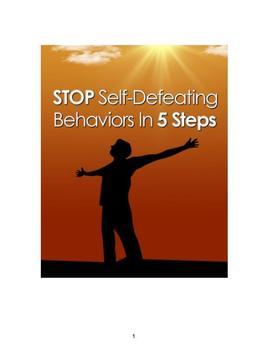 Stop Self Defeating Behaviors poster