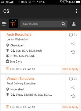 Freshers Job After CS screenshot 2