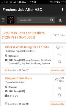 Freshers Job After HSC poster