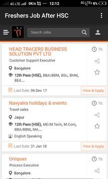 Freshers Job After HSC apk screenshot