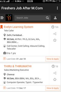 Freshers Job After M.Com apk screenshot