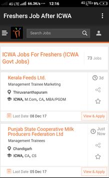 Freshers Job After ICWA poster
