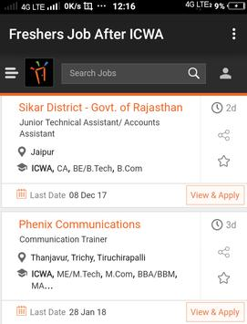 Freshers Job After ICWA apk screenshot