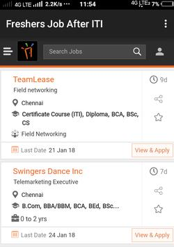 Freshers Job After ITI apk screenshot