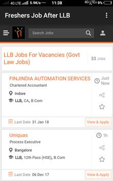 Freshers Job After LLB poster