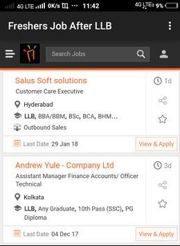 Freshers Job After LLB apk screenshot