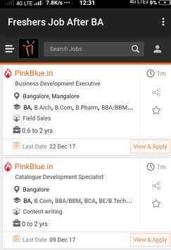 Freshers Job After BA apk screenshot