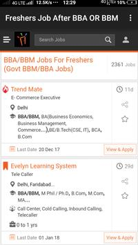 Freshers Job After BBA & BBM poster