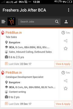 Freshers Job After BCA apk screenshot