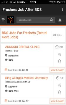Freshers Job After BDS poster