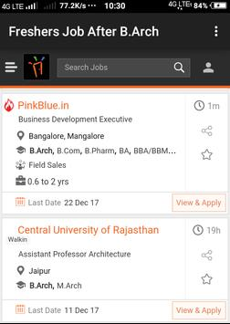 Freshers Job After B.Arch poster