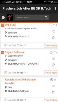 Freshers Job After BE & B.Tech apk screenshot