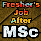 Freshers Job After MSc icon