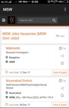 Freshers Job After MSW poster