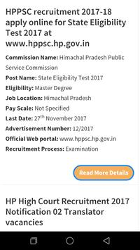 Government Job in Himachal Pradesh poster