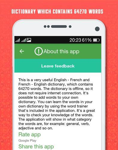 French English Dictionary poster