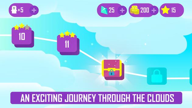 Ghost Game - Dig your way through the clouds! screenshot 4