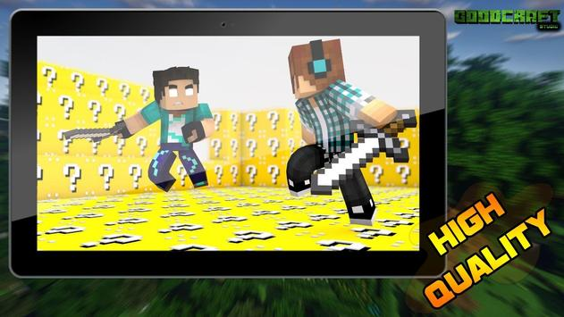 Lucky Block Challenge Ultra Pack for MCPE poster